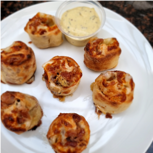 *Special* Ham & Blue Cheese Doughballs with Honey Mustard Dip